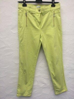 Superstretch-Jeans, 7/8 Länge, Neon-Gelb, Gr. 42