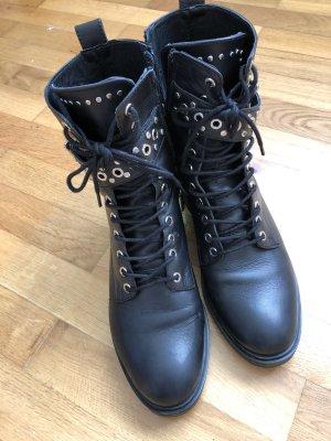 Zara Chukka boot noir-argenté cuir
