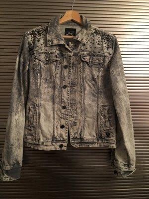 Superstylische graue Jeansjacke von Fracomina Größe L