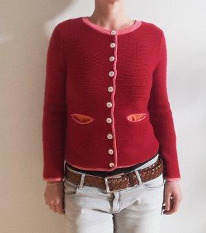 My Herzallerliebst Folkloristische jas rood-neonroos Kasjmier