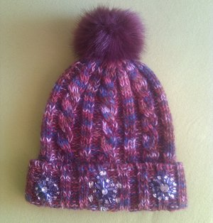 Esprit Knitted Hat multicolored mixture fibre