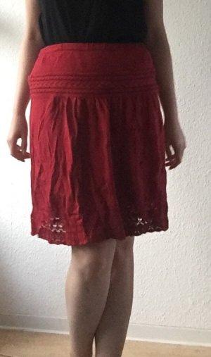 Promod Falda de punto rojo