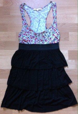 Supersüßes Kleid geblümt/schwarz