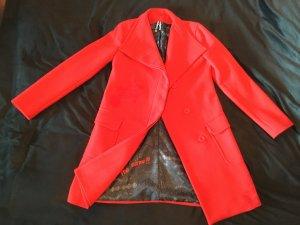 Desigual Between-Seasons-Coat red mixture fibre