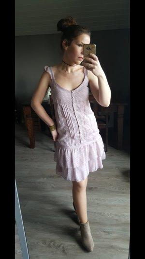 Supersüßes, zartes Boho Kleid von 3 Suisses Gr 36 Minikleid Volants Tupfenkleid Minikleid