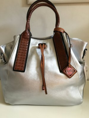 supertolle Handtasche in silber/metallic
