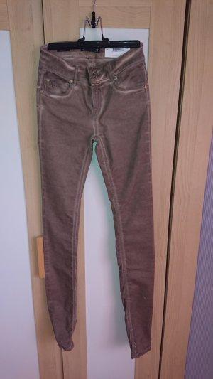 Supertrash Pantalón de tubo marrón grisáceo Algodón