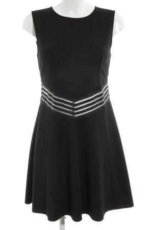 Supertrash A-Linien Kleid schwarz Streifenmuster Elegant