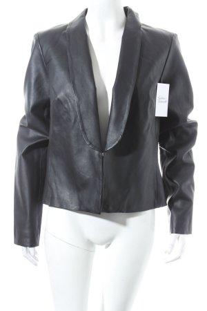 Supertrash Kunstlederjacke schwarz klassischer Stil