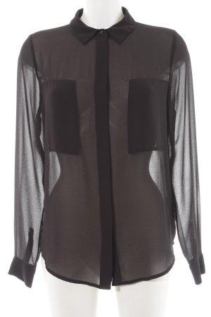 Supertrash Langarm-Bluse schwarz