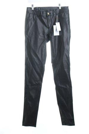 Supertrash Lederhose schwarz Biker-Look