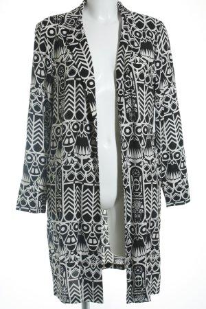 Supertrash Long-Blazer schwarz-weiß abstraktes Muster schlichter Stil