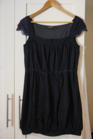 Supertrash Mini Kleid Tunika navy dunkelblau Gr. S mit Spitze NEU
