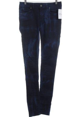 Supertrash Röhrenjeans dunkelblau-blau Farbverlauf Street-Fashion-Look