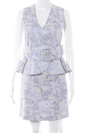 Supertrash Peplum jurk paars-wolwit bloemen patroon Metalen look