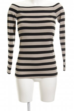 Supertrash Sweatshirt beige-schwarz Streifenmuster Casual-Look