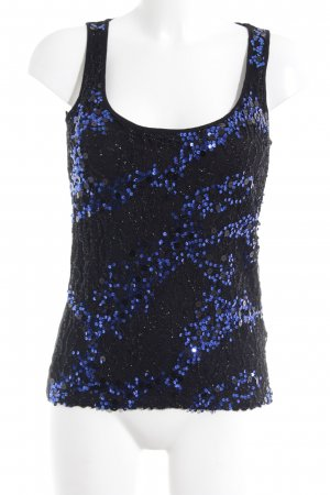 Supertrash Trägertop schwarz-blau abstraktes Muster Party-Look