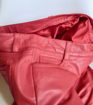 Conleys Leather Trousers bright red