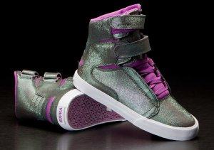 SUPRA SNEAKER BOOTS STIEFELETTEN ECHTLEDER NP 99,95€ neu 36/36,5 Modell Supra Wmns Society II (Purple / Green- White) Sneaker Schuhe