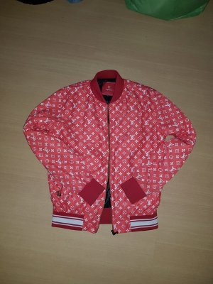 Louis Vuitton Blouson aviateur blanc-rouge brique