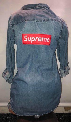 Supreme Jeans Hemd in gr M Long Bluse