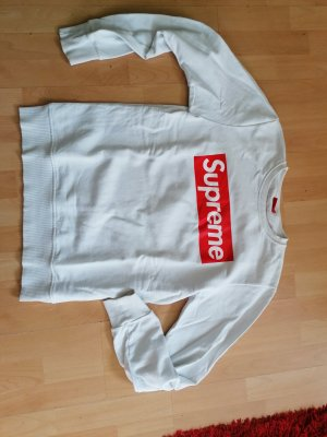 Supreme being Sweat Shirt white-red
