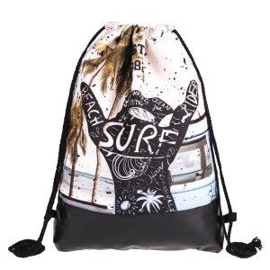 Surf Strand Cool Swag Bag Turnbeutel Sporttasche Drawstring Rucksack Backpack