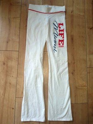 Pantalón deportivo blanco Algodón