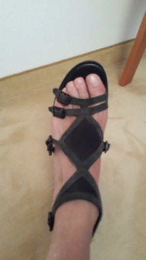 Surface to air Plateauzool Sandalen met Hoge Hakken zwart Leer