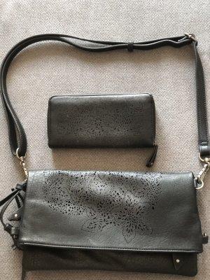 Suri Frey Handtasche und Portemonnaie, schwarz Silber
