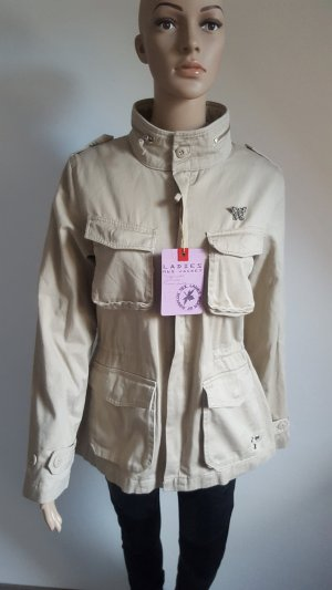 Surplus Military Jacket gold-colored-sand brown cotton