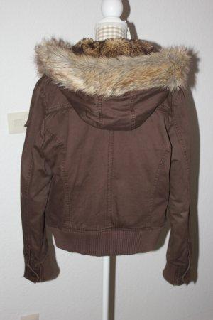 Veste d'hiver brun foncé-brun coton