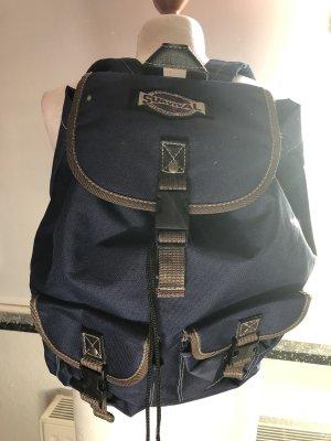 Wandelrugzak donkerblauw-bruin