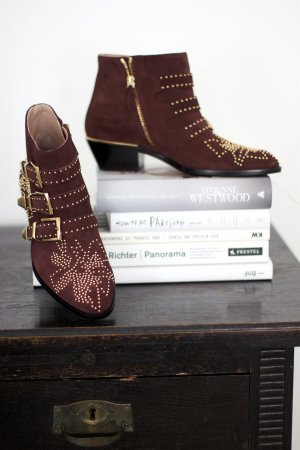 SUSANNA SHORT VELVET BOOT BORDEAUX Gr. 39