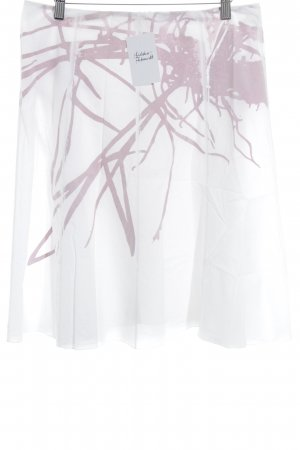 Susanne Bommer High Waist Skirt white-pink abstract pattern casual look