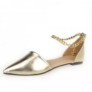 Patent Leather Ballerinas gold-colored-silver-colored mixture fibre