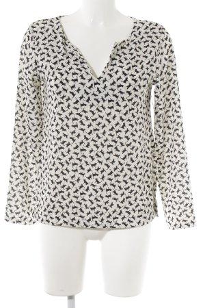 SusyMix Langarm-Bluse schwarz-weiß Animalmuster Casual-Look