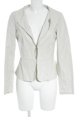 SusyMix Blazer in pelle beige chiaro stile professionale