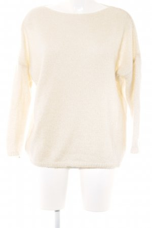 SusyMix Strickpullover creme-goldfarben Casual-Look