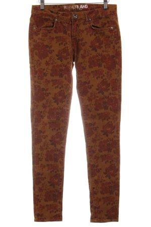 Sutherland Skinny Jeans Blumenmuster Casual-Look