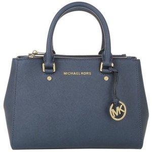 Sutton Saffiano Leder Tasche Original Michael Kors Navy Blau