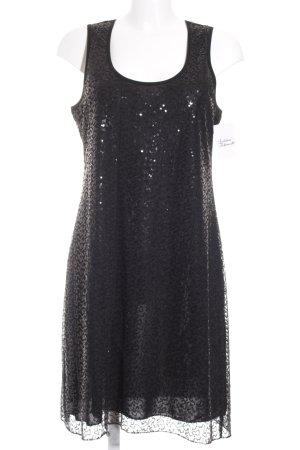 Suzanna A-Linien Kleid schwarz extravaganter Stil