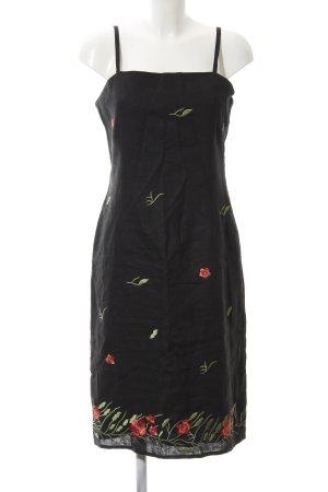 Suzanna A-Linien Kleid schwarz florales Muster Casual-Look