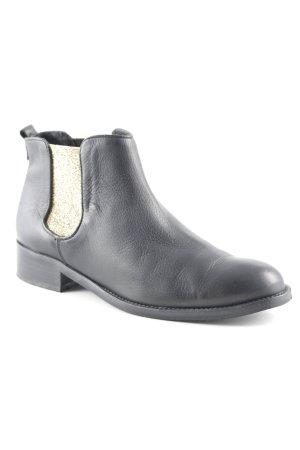 Suzanna Ankle Boots schwarz-goldfarben Glitzer-Optik