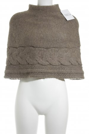Suzanna Cape beige-hellbraun Zopfmuster Casual-Look