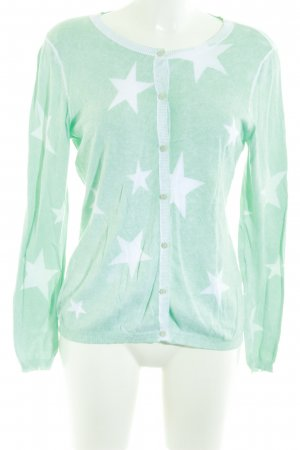 Suzanna Cardigan mint-weiß Sternenmuster Casual-Look