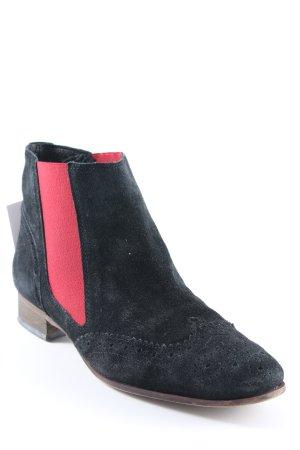 Suzanna Chelsea Boots schwarz-dunkelrot klassischer Stil