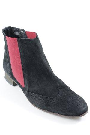 Suzanna Chelsea Boot noir-rouge style minimaliste