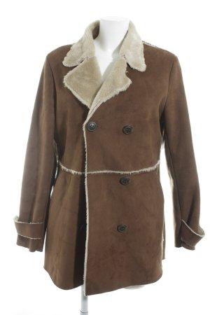 Suzanna Fur Jacket brown-cream casual look