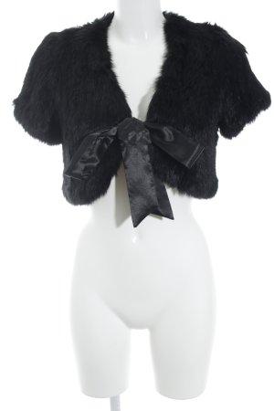 Suzanna Smanicato di pelliccia nero stile casual